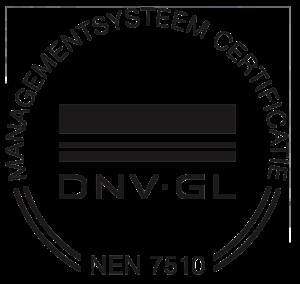 DNV GL NEN 7510 certificering zwart