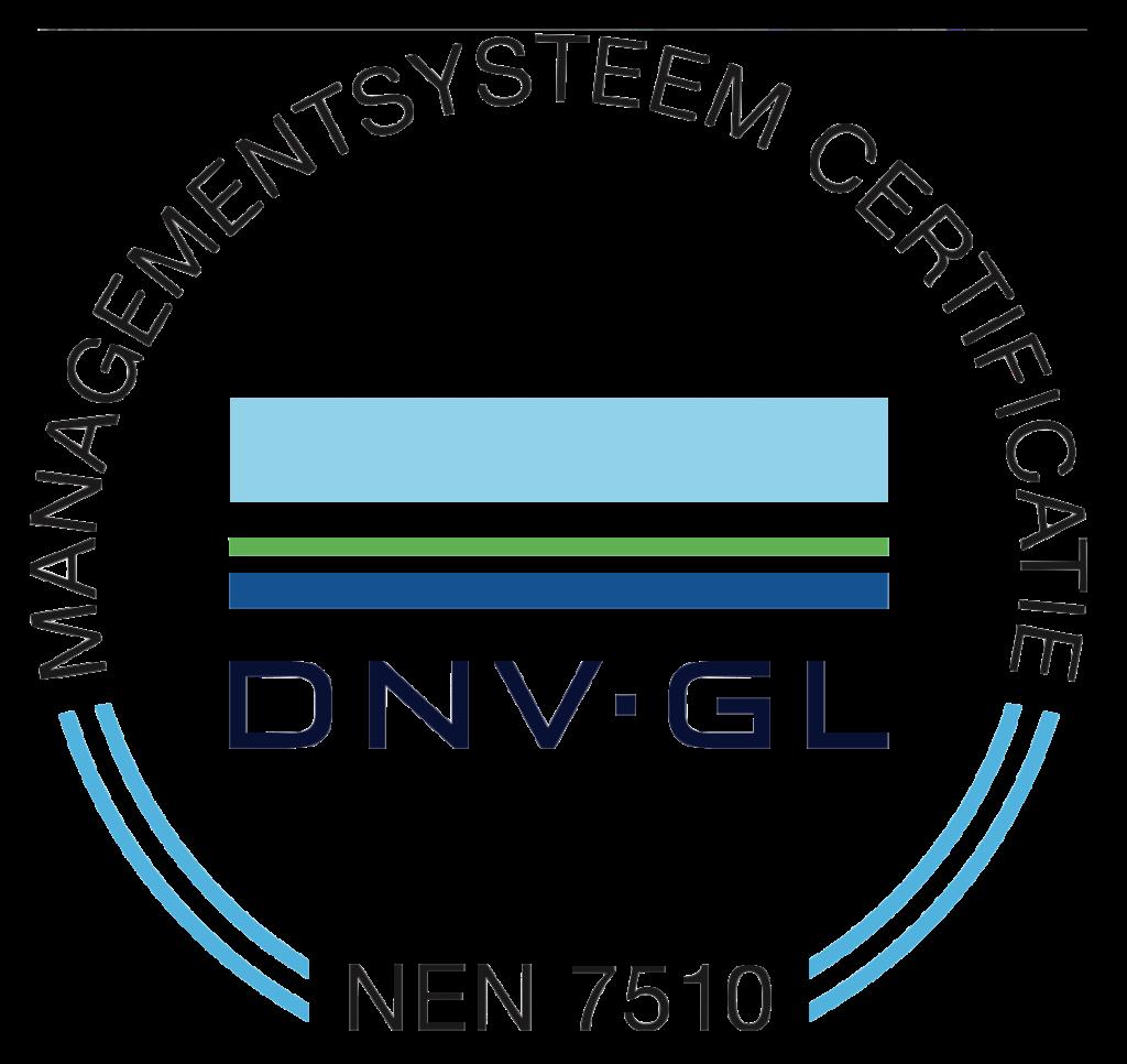 DNV GL NEN 7510 certificering logo